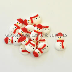 Snowman Edible Icing Toppers