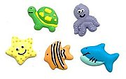Assorted Sea Creature Edible decorations 10 pack