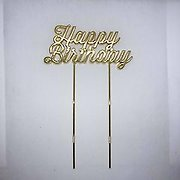 Happy Birthday Gold Metal