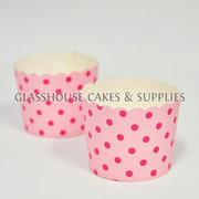 25 Fox Run Pink Spots Cupcake Cases ?û Large