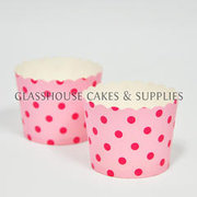 25 Fox Run Pink Spots Cupcake Cases ?û Small