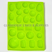 25 Big Polished Gems Silicone Mold