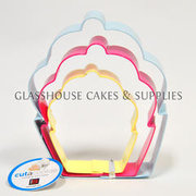 3 Cupcake Sizes Cookie Cutter