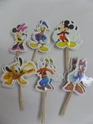 Mickey and Mini Mouse Cupcake Toppers