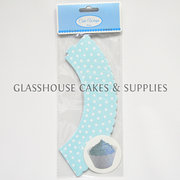 Baby Blue Polka Dot Cupcake Skirts
