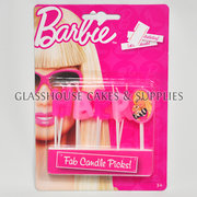 Barbie Happy Birthday Candle Picks