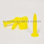 Bright Yellow Bullet Candles