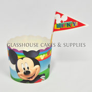 Mickey Mouse Card Cupcake Cups with Picks