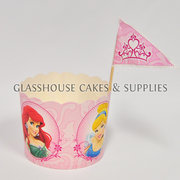 Disney Princess Card Cupcake Cups with Picks