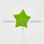 Icing Stars on Wires - Fern Green