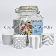 Jar of Patty Cups Silver Themed Robert Gordon