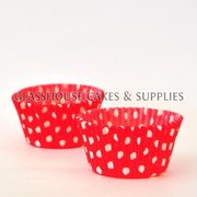 50 red/white Polka Dot Patty Cups