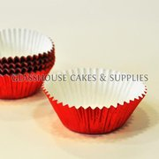 50 Metallic Red Patty Cups