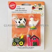 4 Wilton Farm Theme Candles