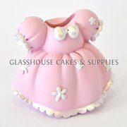 Pink Dress Ceramic Topper