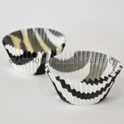 Black Zebra Print Baking Cups
