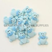 Blue Teddy Bears Edible Toppers - 12 pack