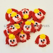 Fondant Clown Faces
