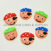 6 Fondant Baby Pirate Faces