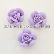 Small Purple Roses 12 Pack