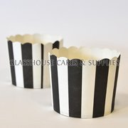 25 Fox Run Black/White Stripe Cups