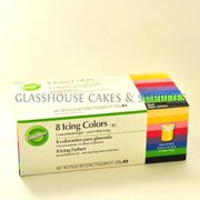 Wilton 8 Icing Colours, 226g total