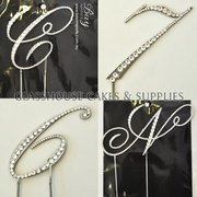 2 Diamante Script Letters of your choice