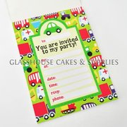 Traffic Party Invitations