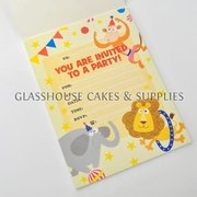 Circus Animals Party Invitations