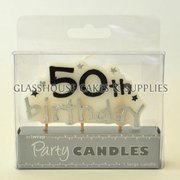 50th Birthday Stars Candle