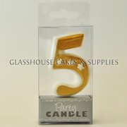 Gold 5 Candle