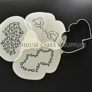 Double Heart Cutter+Stencil Set