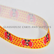 Mickey Yellow Cloth Ribbon