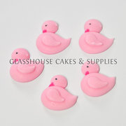 Pink Duck Edible Toppers - 12 packs