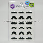 Moustache icing decorations