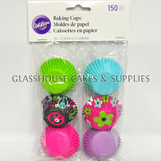 Wilton 150 Mini Baking Cups Peace Flower