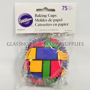 Wilton 75 Baking Cups Block Colours L