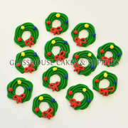 Wreath Edible Icing Toppers
